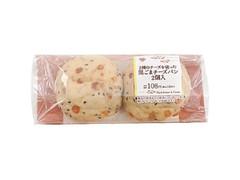 ミニストップ MINISTOP CAFE 2種のチーズを使った黒ごまチーズパン 2個入