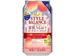 アサヒ スタイルバランス 素肌うるおうピーチスパークリング 缶350ml