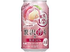 アサヒ 贅沢搾り 桃 缶350ml
