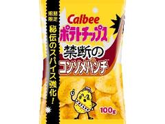 カルビー ポテトチップス 禁断のコンソメパンチ 袋100g