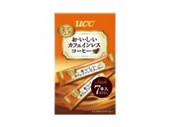 UCC おいしいカフェインレスコーヒー スティック 箱2g×7