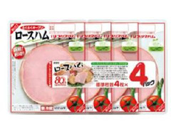 プリマハム 新鮮!使い切り ロースハム3連 パック4枚×4