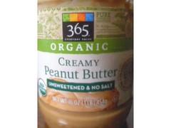 Whole Foods Market オーガニック クリーミーピーナツバター 砂糖・塩不使用 454g
