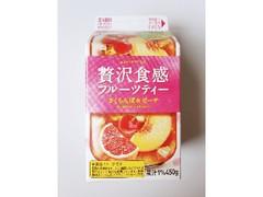 エルビー 贅沢食感フルーツティー さくらんぼ&ピーチ パック450g