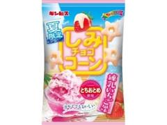 ギンビス しみチョココーン 練乳いちご風味 袋55g