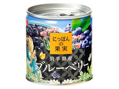 K&K にっぽんの果実 岩手県産ブルーベリー ピーターデザイン 缶185g