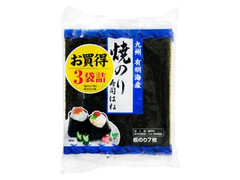 ニコニコのり 九州有明海産焼のり お買得3袋詰め 袋7枚×3