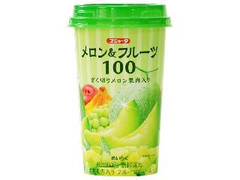 スジャータ メロン&フルーツ100 ざく切りメロン果肉入り カップ200g