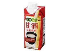 スジャータめいらく 有機大豆使用甘酒 豆乳飲料 パック330ml