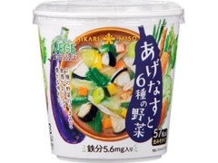 ひかり味噌 あげなすと6種の野菜 カップ1食