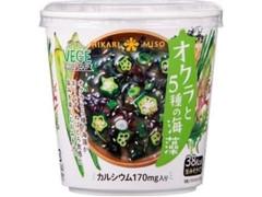 ひかり味噌 オクラと5種の海藻 カップ1食