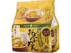 ひかり味噌 和だしを味わうお米のめん 鶏のうまみ効いた野菜だし