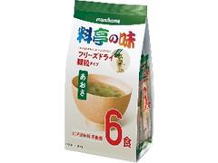 マルコメ フリーズドライ 顆粒みそ汁 料亭の味 あおさ カップ6g×6