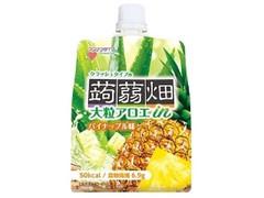 マンナンライフ 大粒アロエin クラッシュタイプの蒟蒻畑 パイナップル味