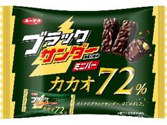 有楽製菓 ブラックサンダー ミニバー カカオ72% 袋155g