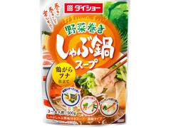 ダイショー 野菜をいっぱい食べる 野菜巻きしゃぶ鍋スープ 鶏がらツナ仕立て