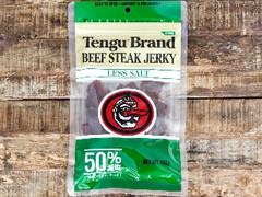 Tengu Brand ビーフステーキジャーキー 減塩 袋100g