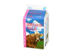 木次乳業 ブラウンスイス牛乳 パック500ml