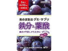 養命酒 グミ×サプリ 鉄分&葉酸 袋40g