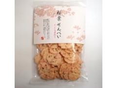 かとう製菓 桜葉せんべい さくら葉入り 袋85g
