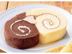 ローソンストア100 VL 2色のロールケーキ