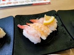 かっぱ寿司 えび三貫盛り 甘海老・えび・鮮極生えび