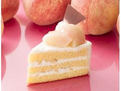 シャトレーゼ 山梨県産白桃のプレミアムショートケーキ