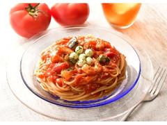 カフェ・ド・クリエ パスタ 冷製えびとモッツァレラのトマトソース