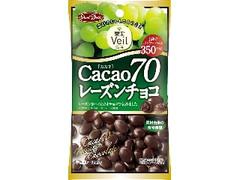 正栄デリシィ 果実Veil カカオ70 レーズンチョコ 袋40g