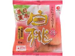 IAフーズ 日本の果実デザート こんにゃくゼリー 白桃 袋24g×6