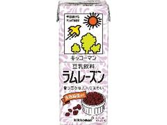 キッコーマン 豆乳飲料 ラムレーズン パック200ml