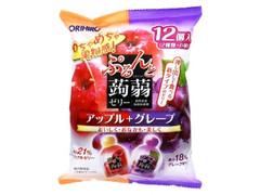 オリヒロ ぷるんと蒟蒻ゼリー アップル+グレープ 袋20g×12
