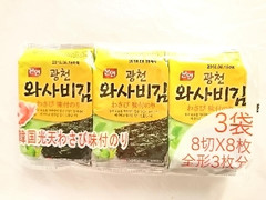 韓国のりジャパン わさび味付けのり