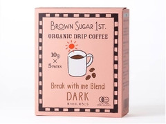 BROWN SUGAR 1ST. ORGANIC DRIP COFFEE Break with me Blend DARK 箱10g×5