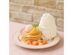 Eggs'n Things 白桃とヨーグルトソースのパンケーキ