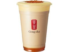 Gong cha クレームブリュレ パンプキン ブラック ミルクティー