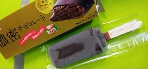 外見はごく普通のチョココーティングアイス