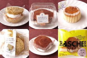 ローソン「バスチー ‐バスク風チーズケーキ‐」、ファミリーマート「アールグレイ香る紅茶のシフォンサンド」、ローソン「ティラミス仕立てのクリームパンケーキ」
