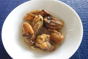 牡蠣お皿に