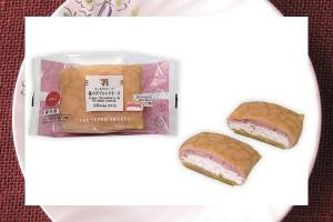 苺レアチーズのクリームとホイップを、発酵バター使用のもっちり食感皮で包んだクレープ。
