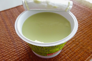 抹茶牛乳プリン表面