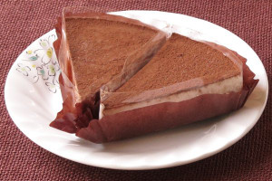 カットケーキのような扇型。