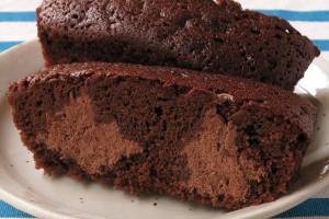 茶色のチョコクリームが2か所に注入されています。