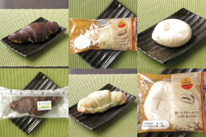 セブン-イレブン「チョコクロワッサン」、ファミリーマート「スイートクロワッサン(メロンホイップ)」、ファミリーマート「白いレアチーズパン」