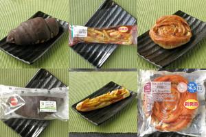 セブン-イレブン「バトンチョコクロワッサン」、ローソン「まず一度は食べて欲しい!フライドポテトパン」、ローソン「ブランのレーズンカスタードデニッシュ〜乳酸菌入〜」