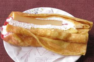 チーズケーキもレアチーズクリームも端までしっかりつまっています。