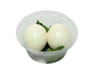 エッグポット(味付き半熟玉子とほうれん草)