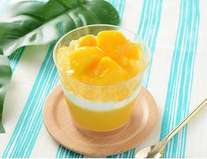 ローソン マンゴーとパッションフルーツのロールケーキ マンゴーとパッションフルーツのプリン マンゴーとパッションフルーツのフロマージュ