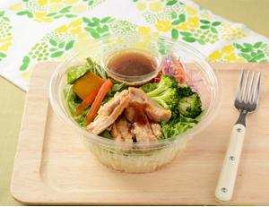 1食分の野菜が摂れる!照焼チキンのパスタサラダ ローソン