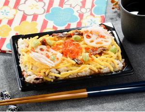 彩り具材の五目ちらし寿司